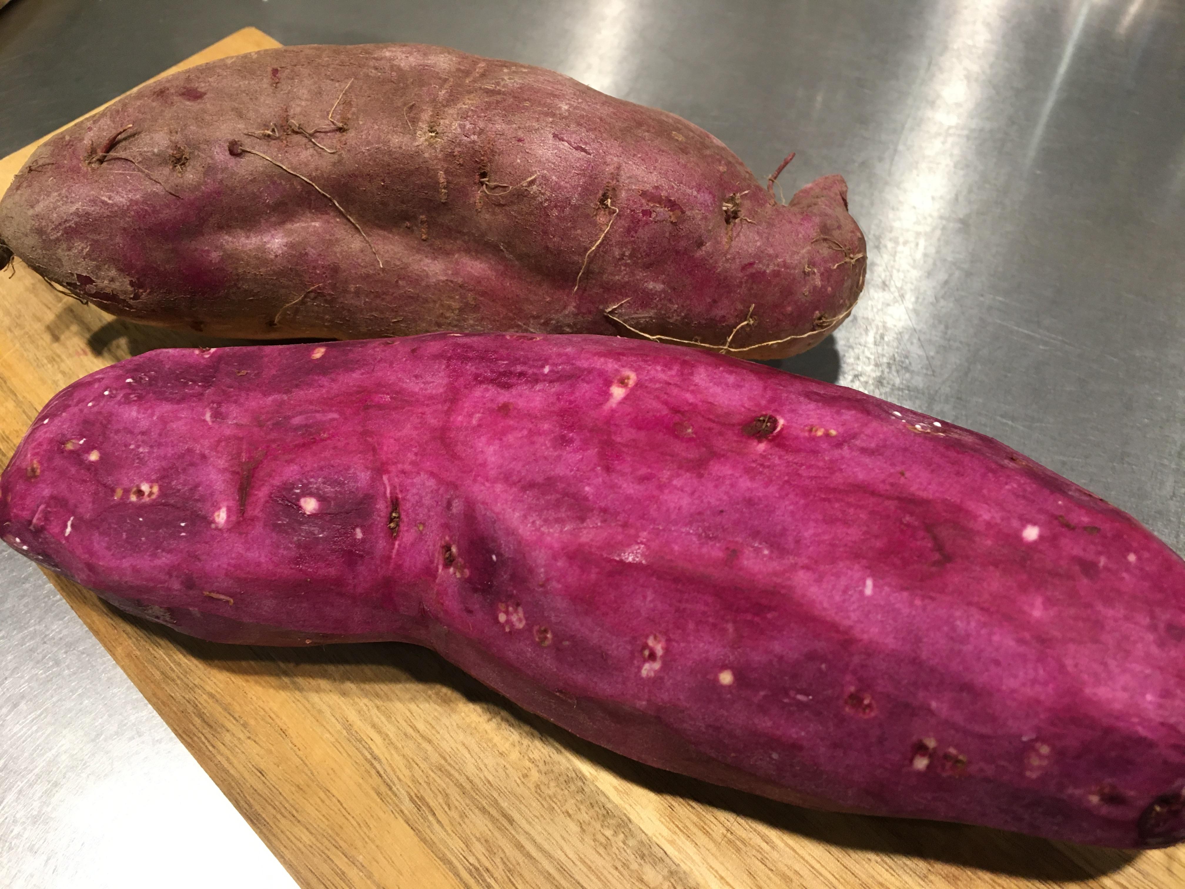 紫芋で鮮やかな色に!