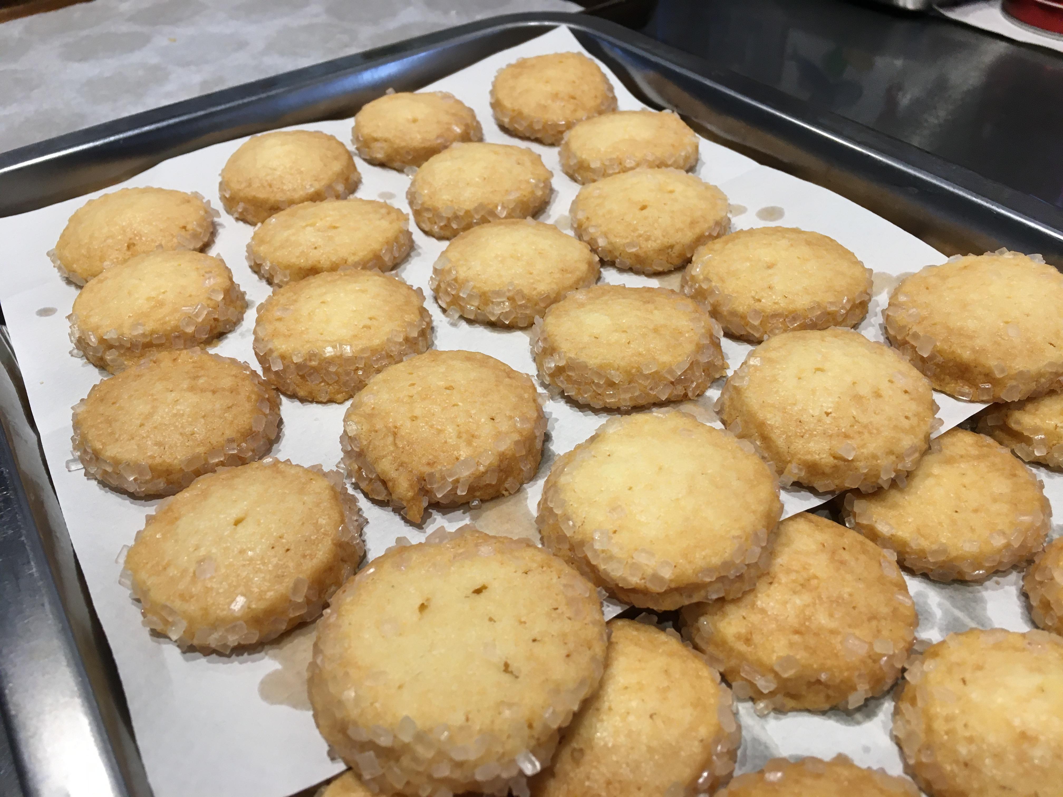 シンプルバタークッキー出来ました。
